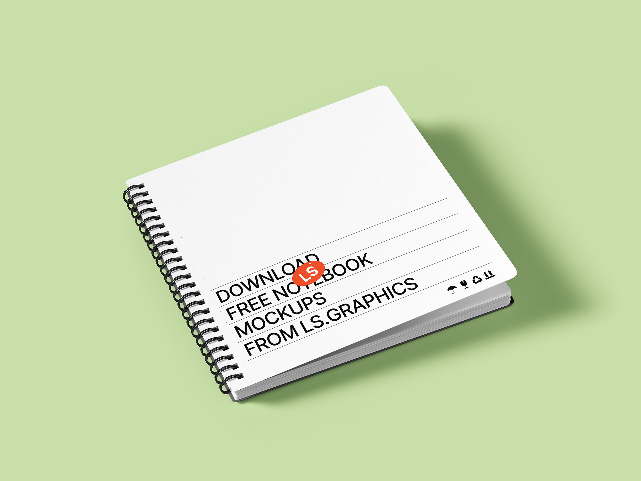 Rounded Corners Spiral Notebook Free Mockup