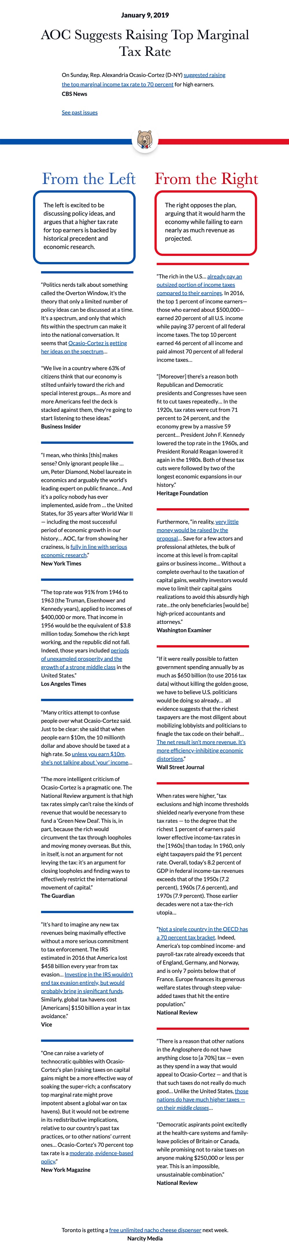 Example of a newsletter from The Flip Side
