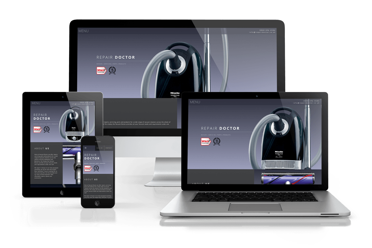 Images of responsive website
