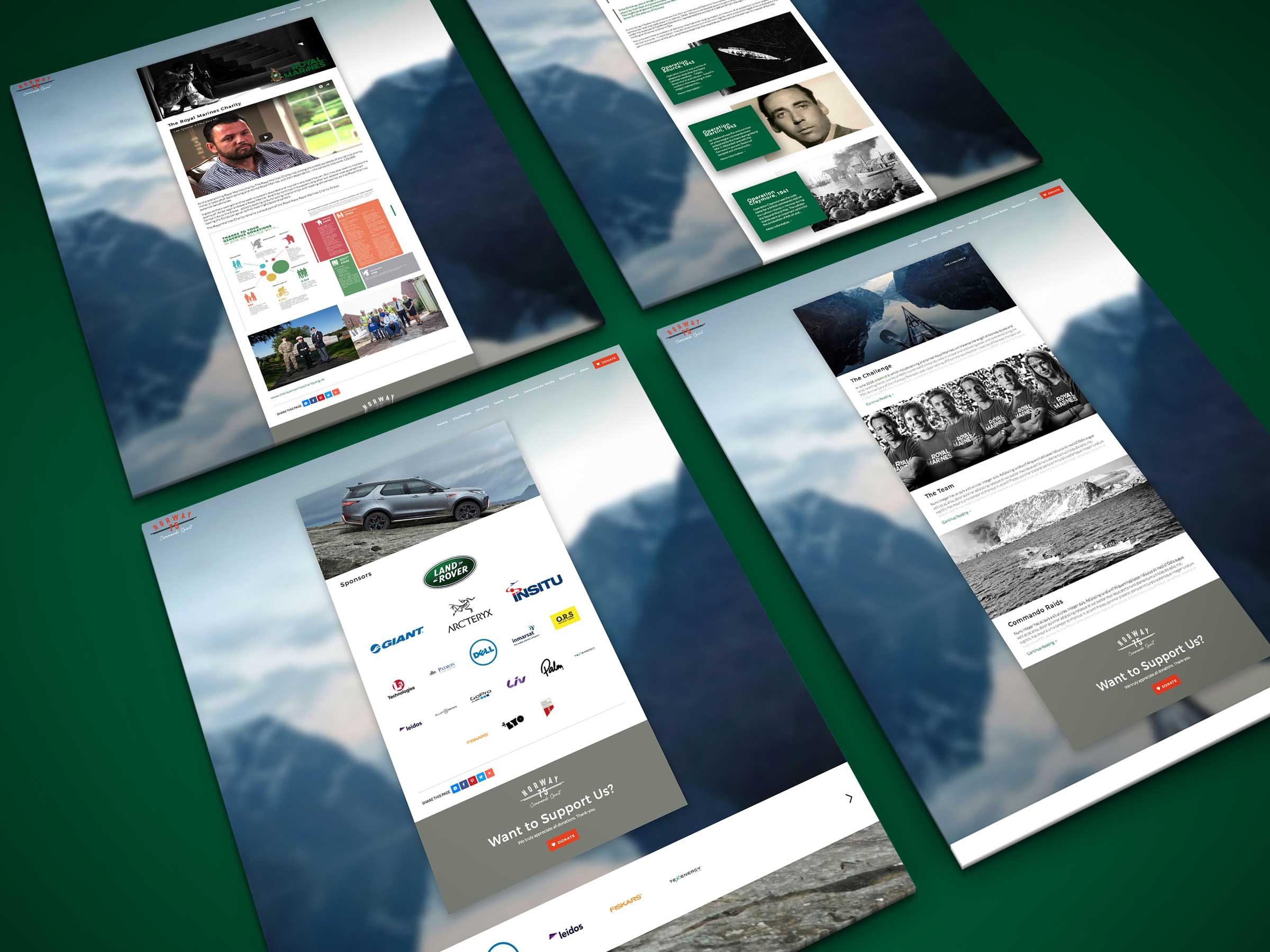 Royal Marines website platform