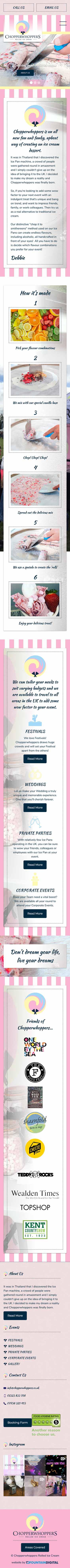 phone image of website design