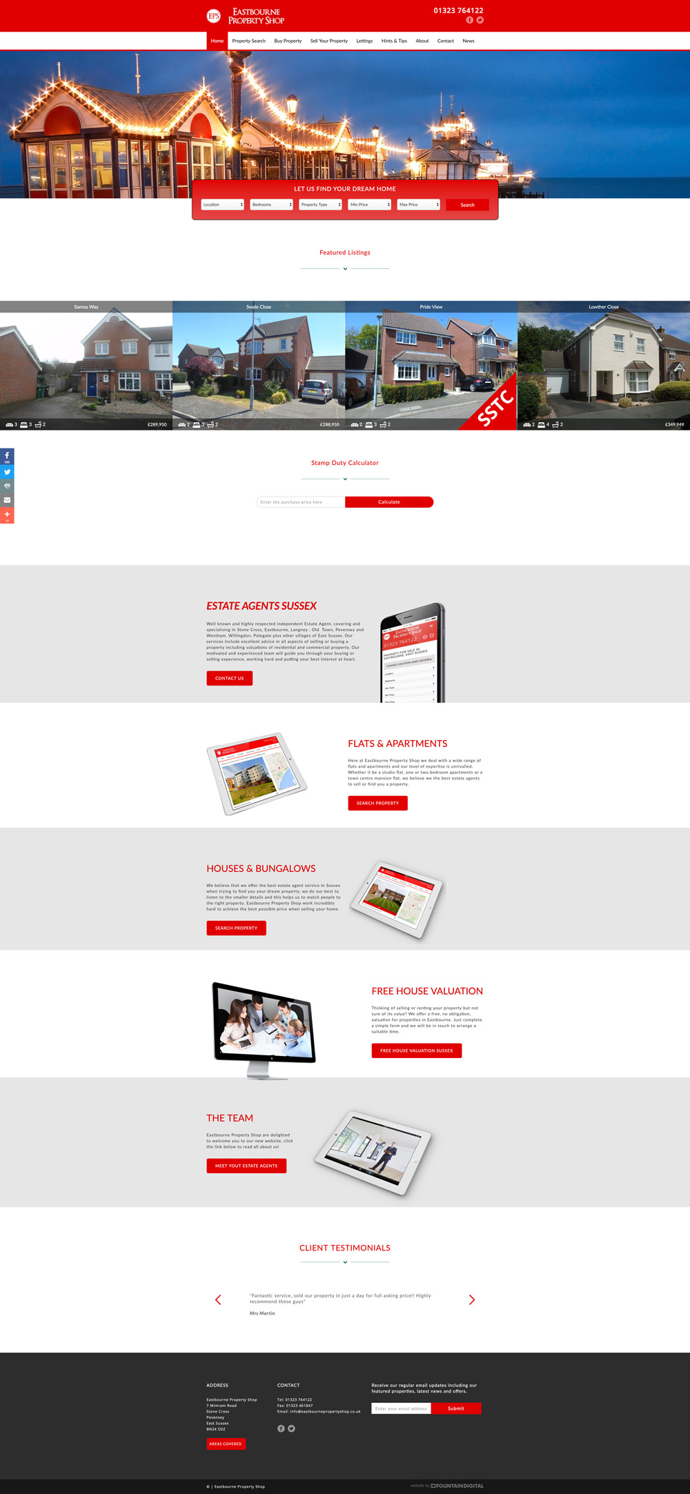 desktop image of website design