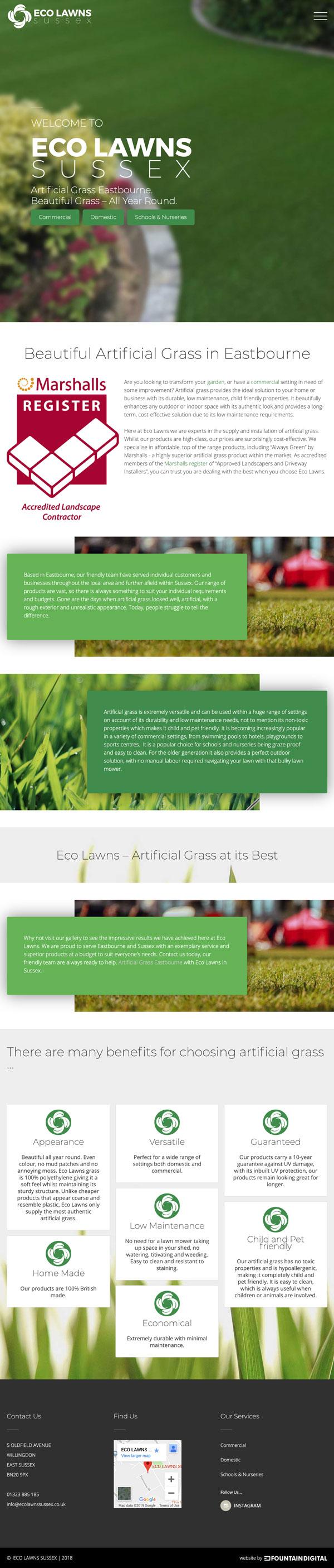 ipad image of website design