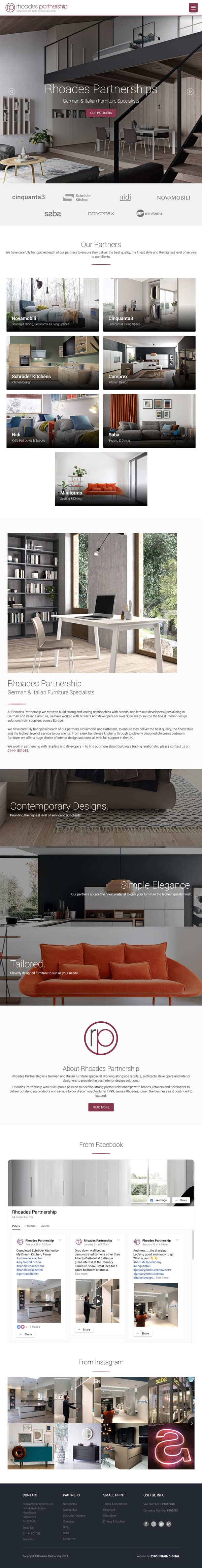 ipad image of website design