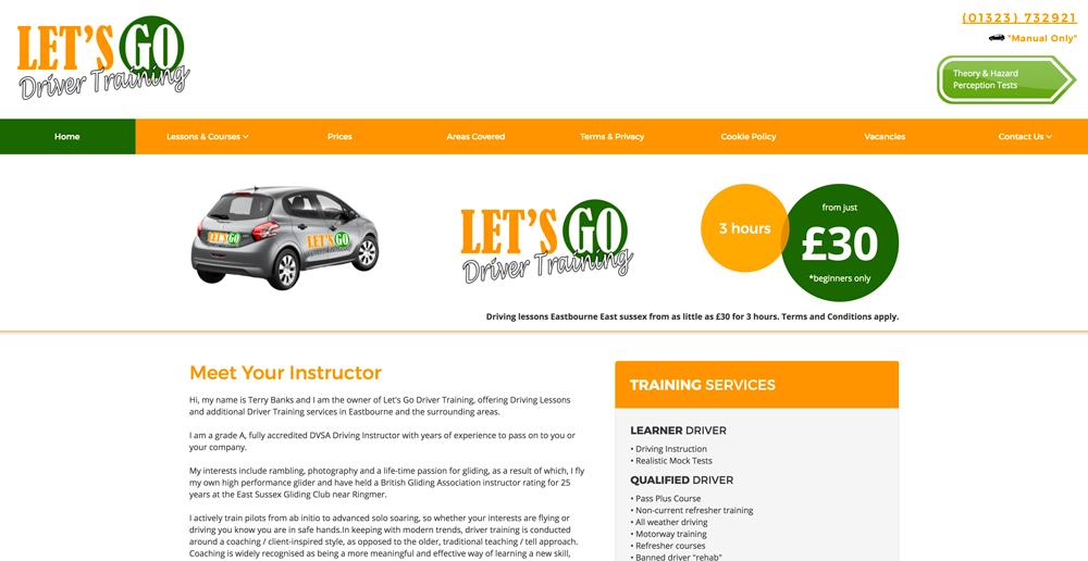 Lets go driving website image