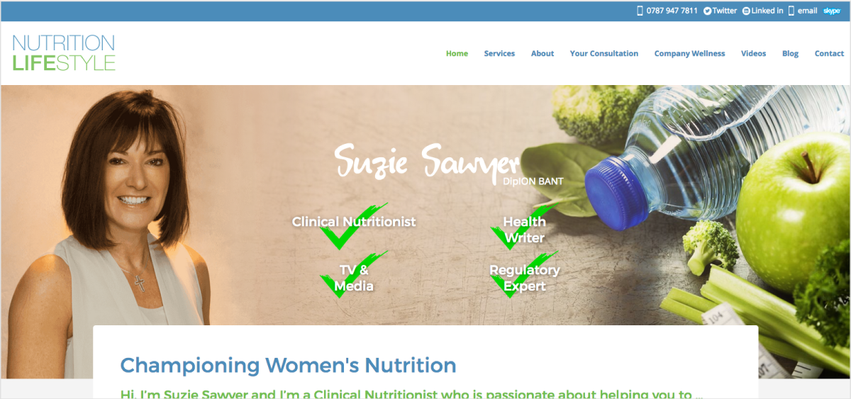 Screenshot of Nutrition Lifestyle