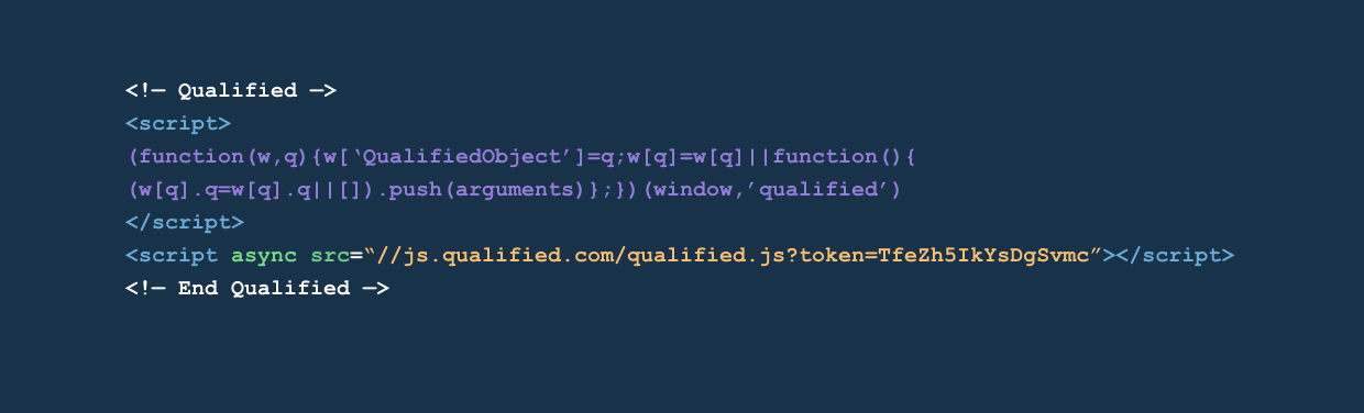 The Qualified javascript snippet (sample)