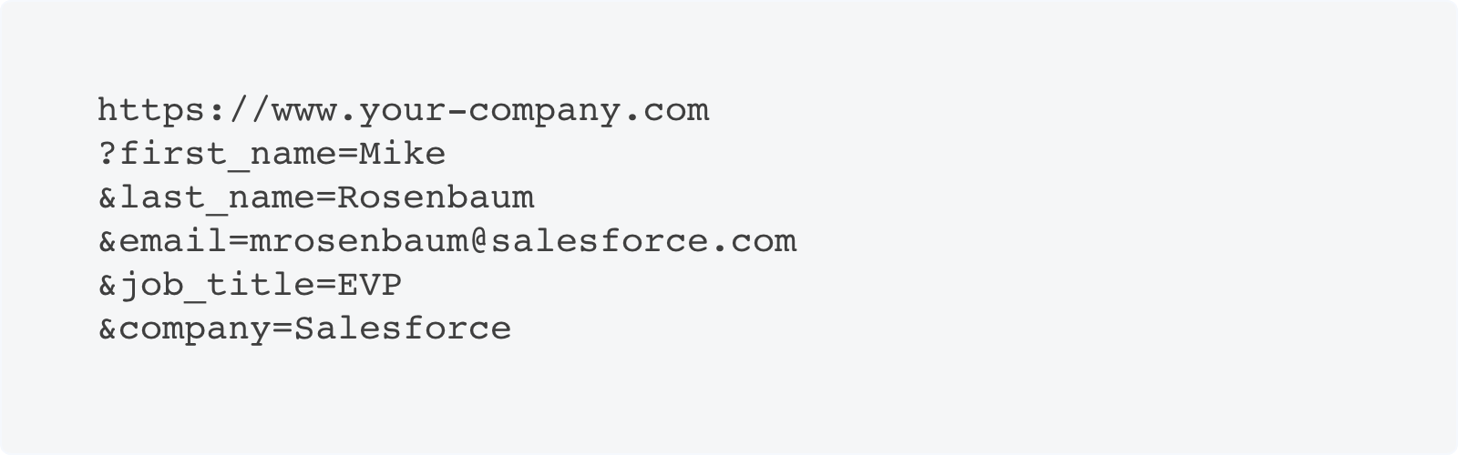 Syntax for passing Lead data as URL parameters