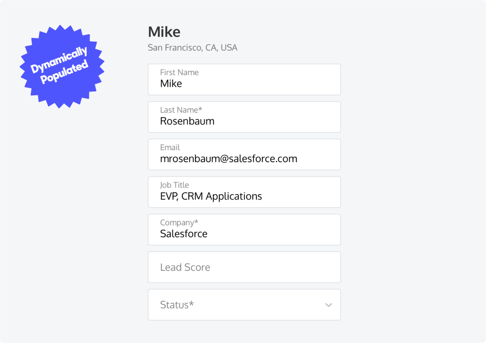 Dynamically populating Lead Fields with data collected from a chat bot