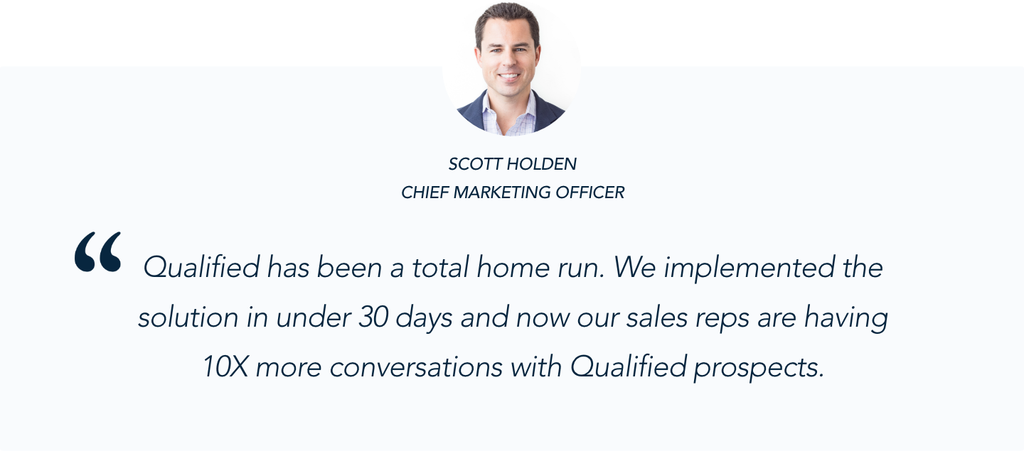 Thoughtspot CMO Scott Holden on Qualified's Conversational Marketing Solution