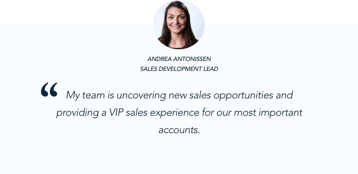 Andrea Antonissen, Sales Development Lead, on Qualified's Conversational Marketing Solution