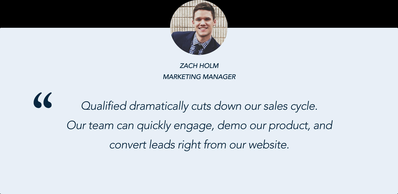 Zach Holm, Marketing Manager, Payzer