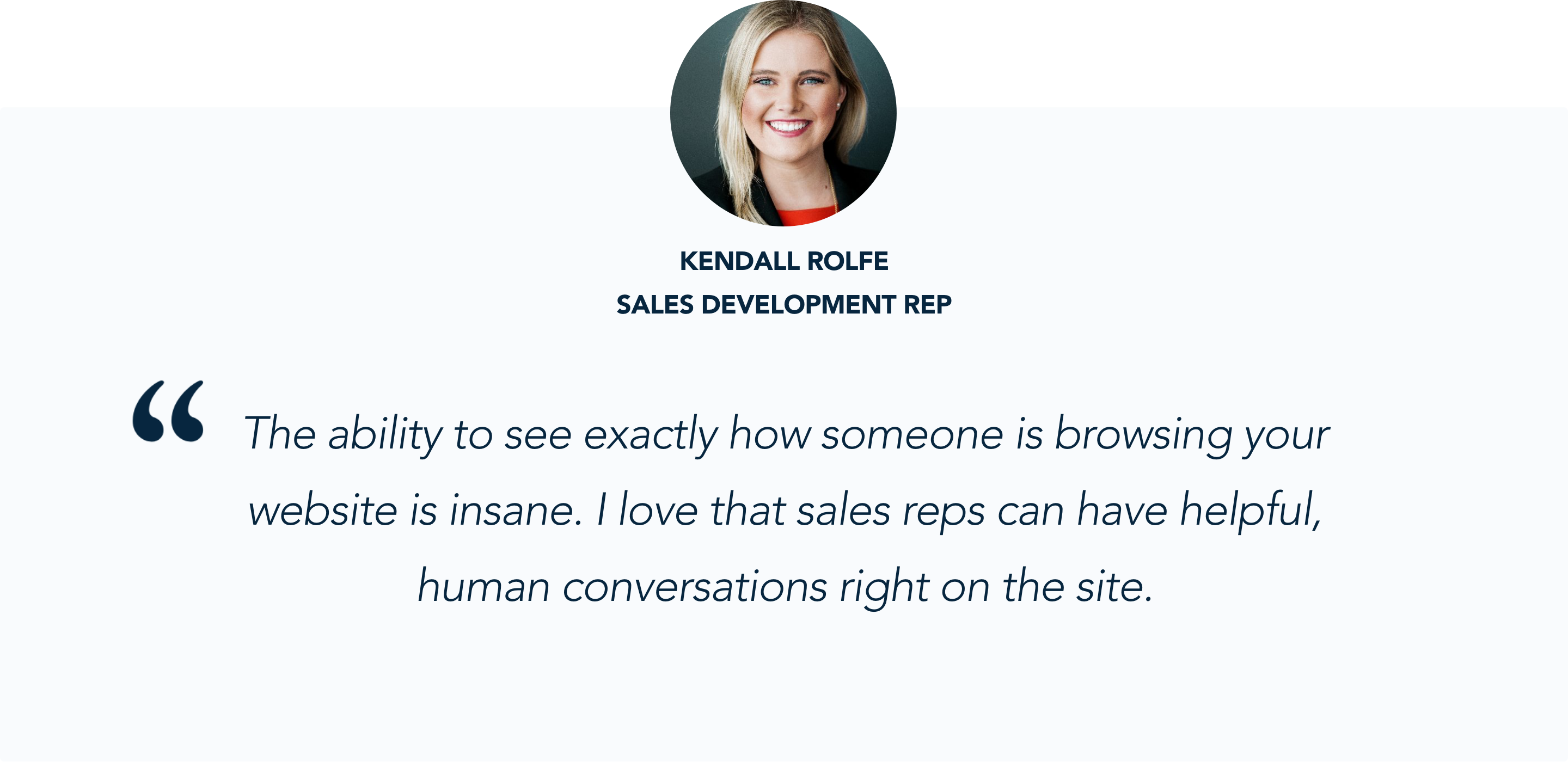Salesforce SDRs Kendall Rolfe says why she's excited about Qualified's conversational marketing app