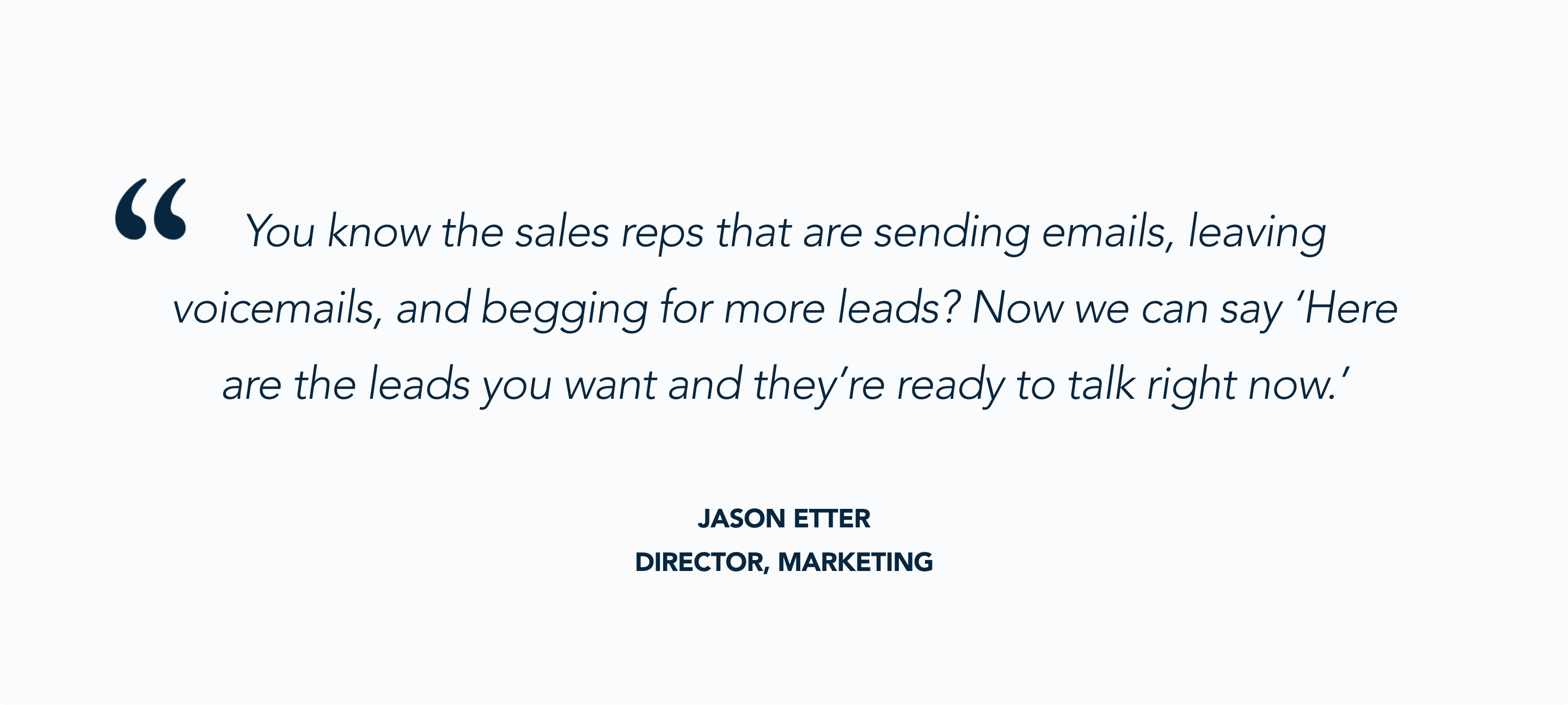 Jason Etter, Staffbase, Talks about the value of handing leads over to sales