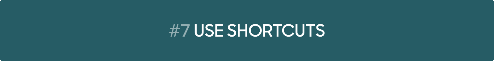 Conversational Marketing Tip #7: Use shortcuts