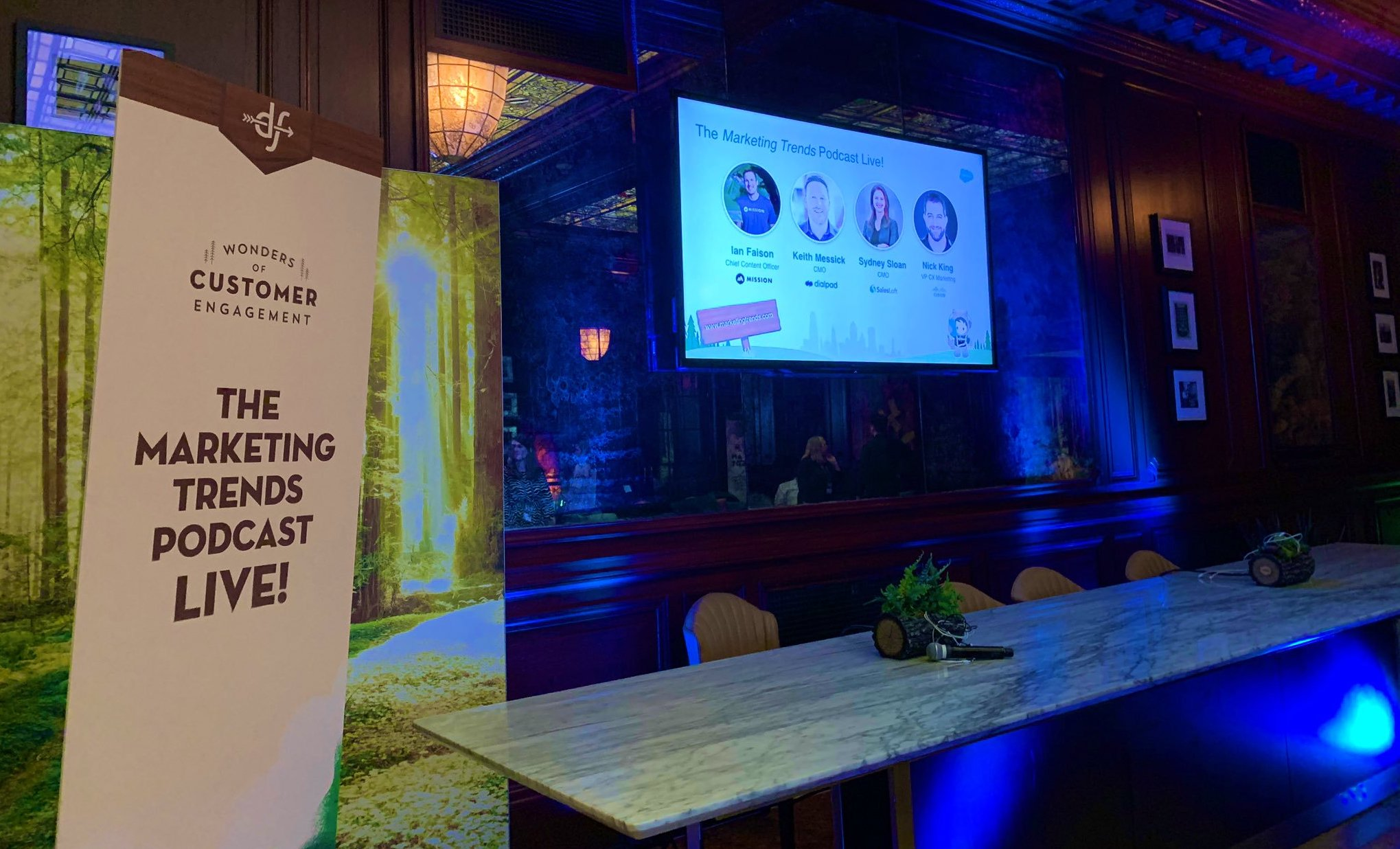 Marketing Trends Live Podcast Recording at Dreamforce