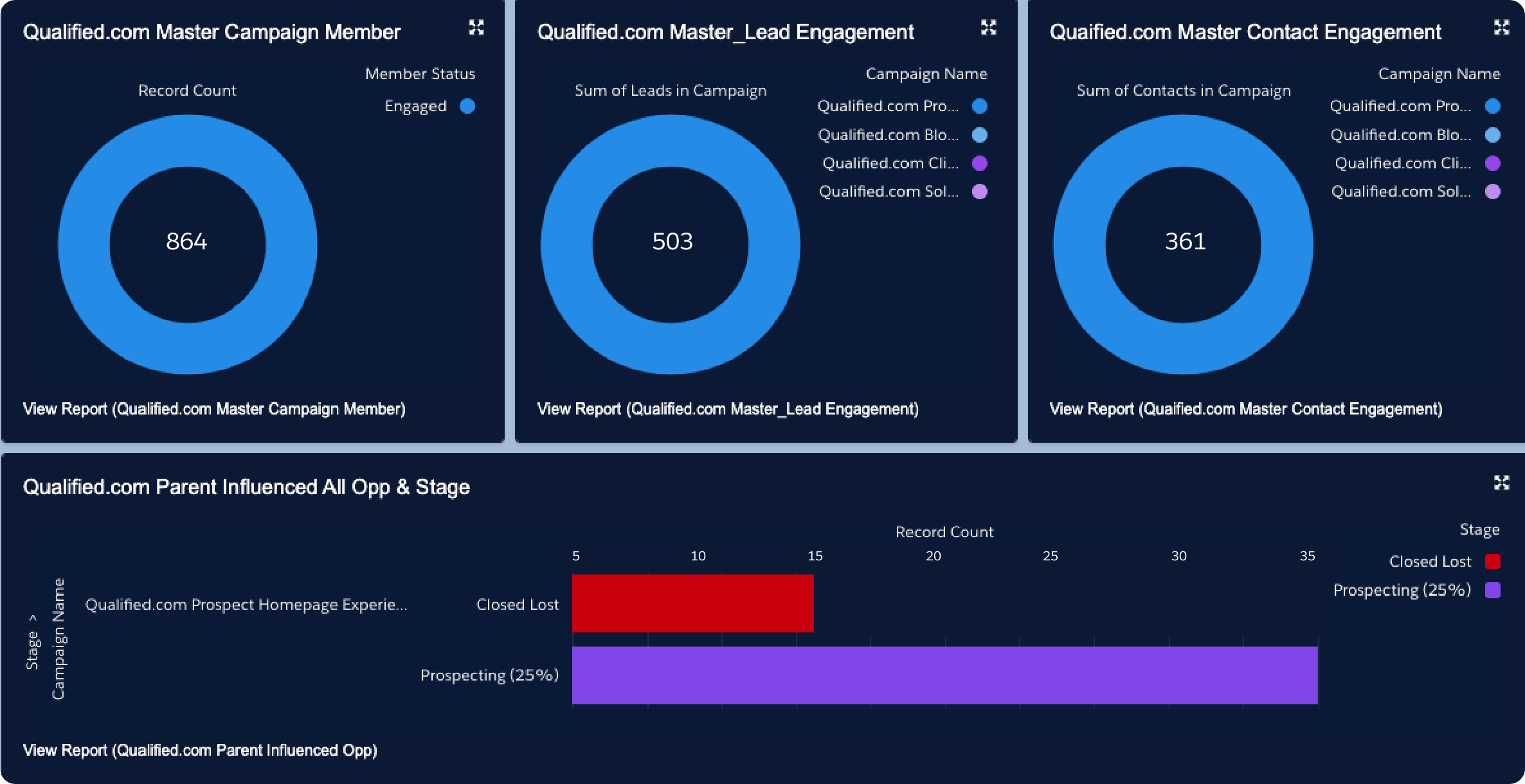 Report on Qualified Conversational Marketing within Salesforce Connected Campaigns
