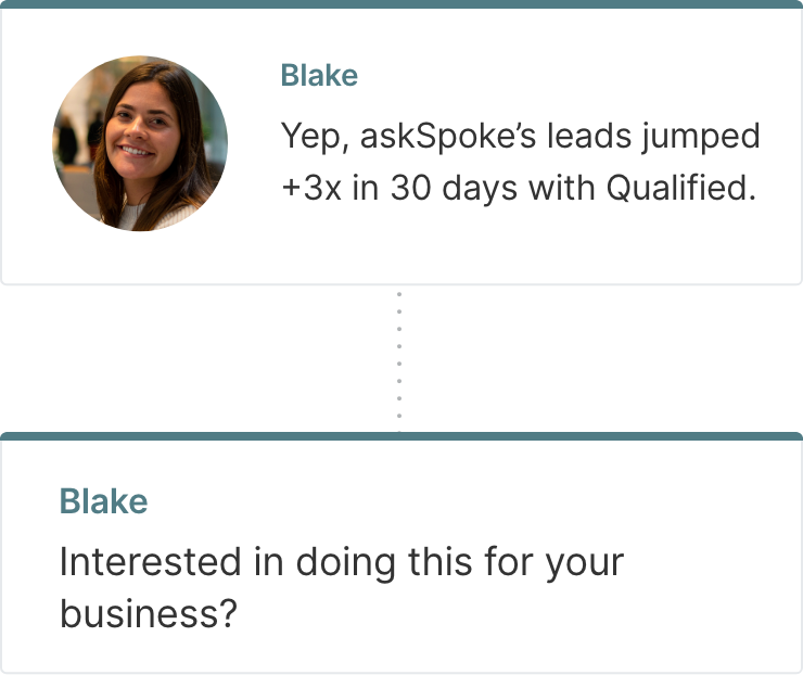 Conversation Starters with Qualified's Live Chat Solution