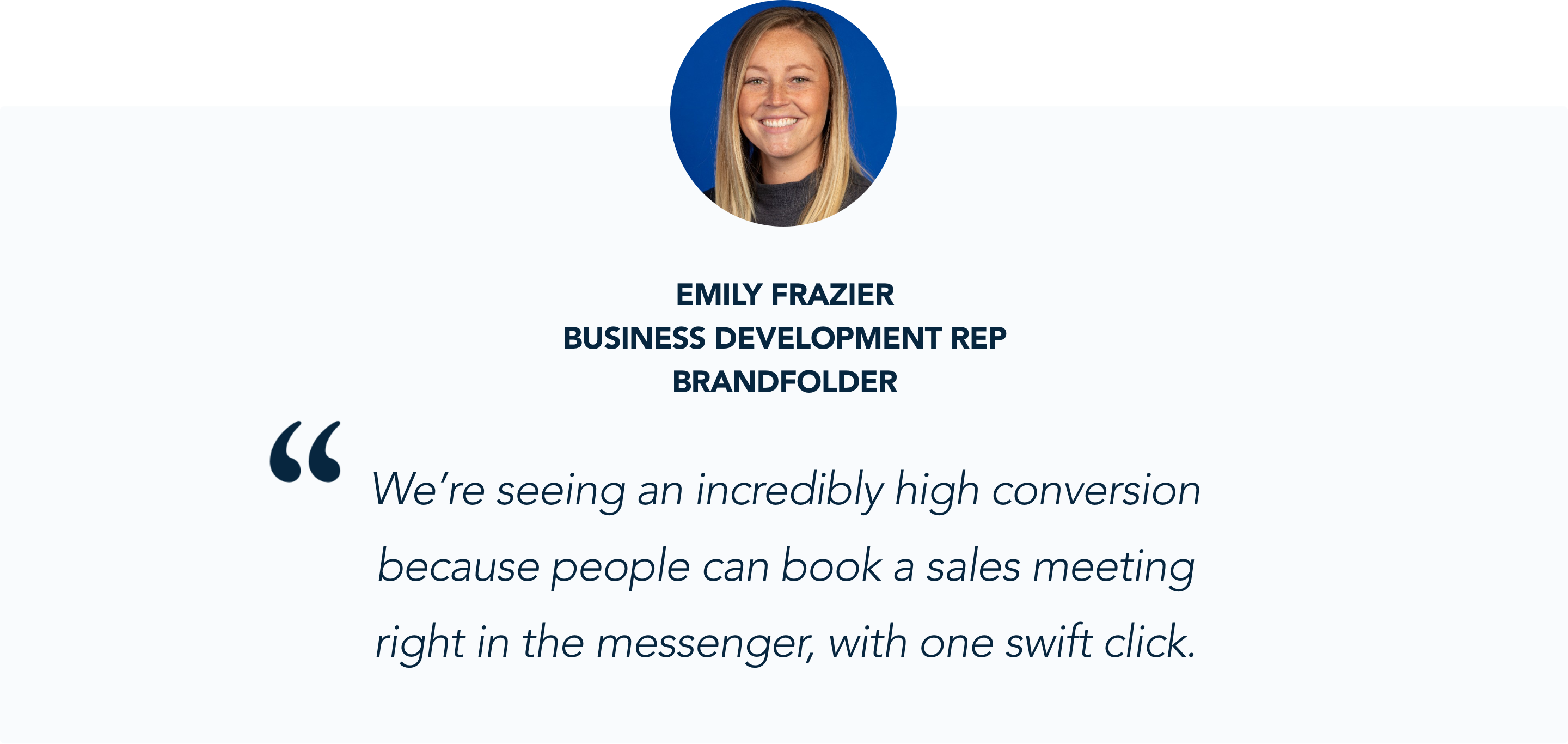 Emily Carpenter, Brandfolder, shares her experience with Qualified Conversational Marketing app