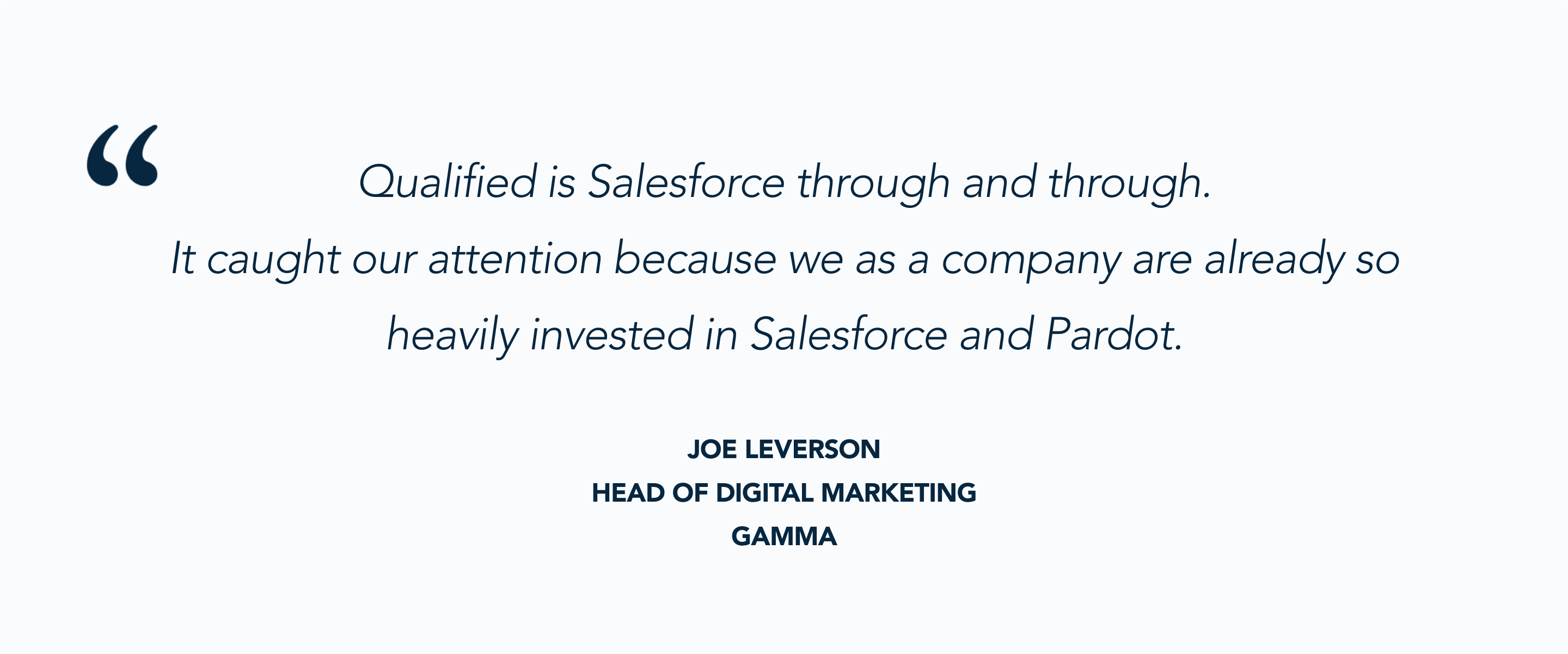 Qualified + Salesforce + Pardot = a stellar combination for Gamma