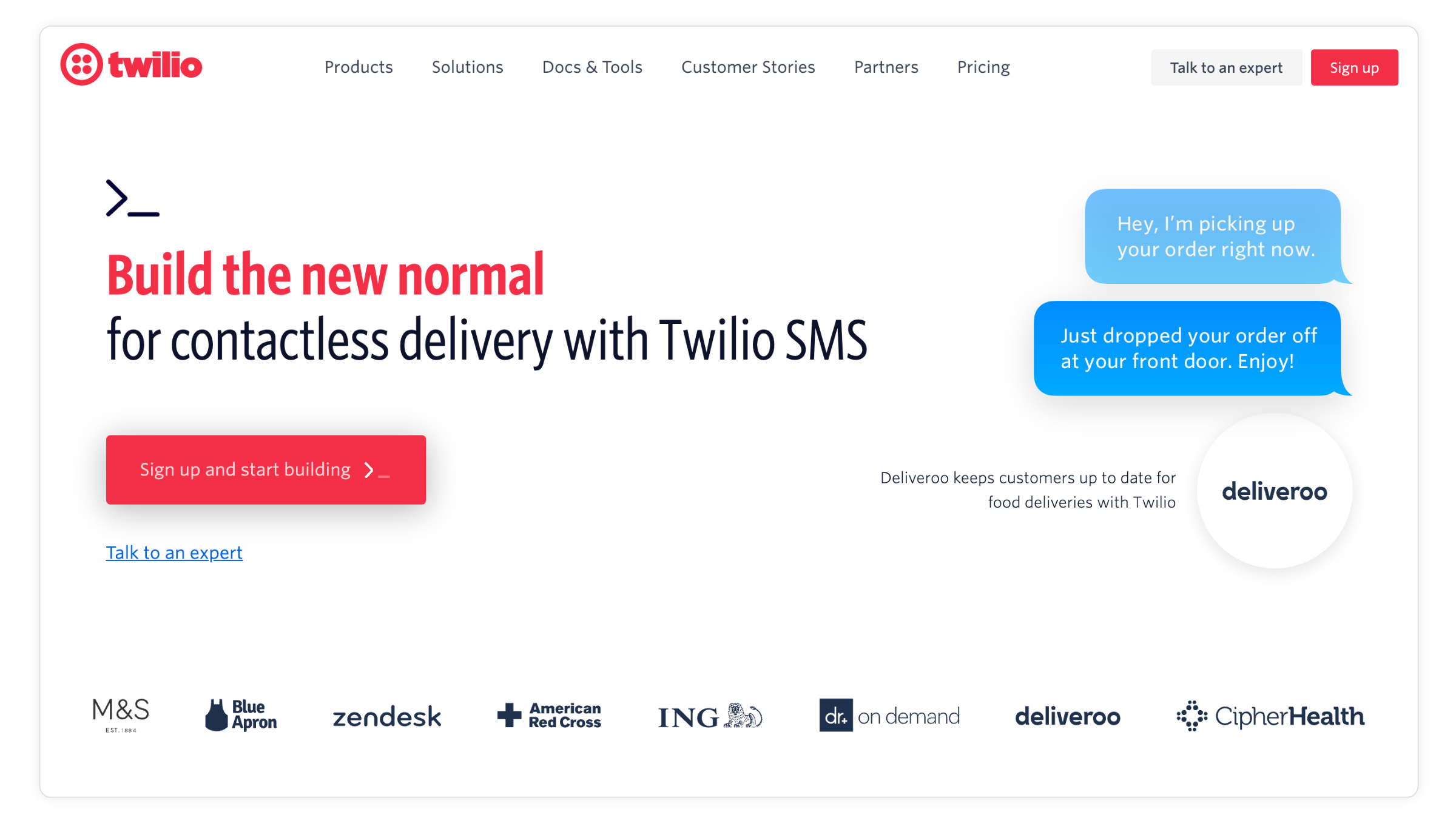 Twilio helps companies connect with customers in the new normal