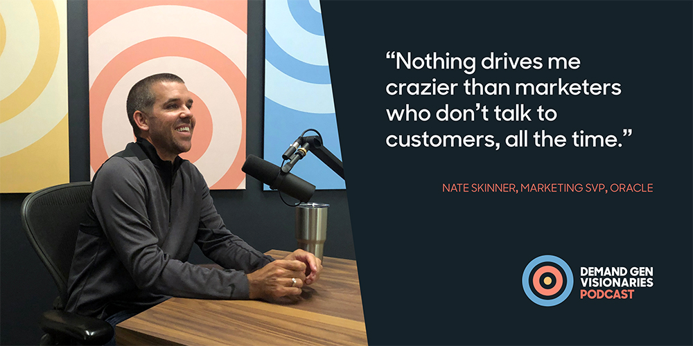 Nate Skinner, SVP Marketing at Oracle and former CMO Salesforce Pardot, stopped by the Qualified.com studio for an episode of Demand Gen Visionaries