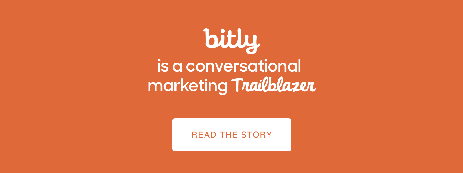 Bitly is a conversational marketing trailblazer