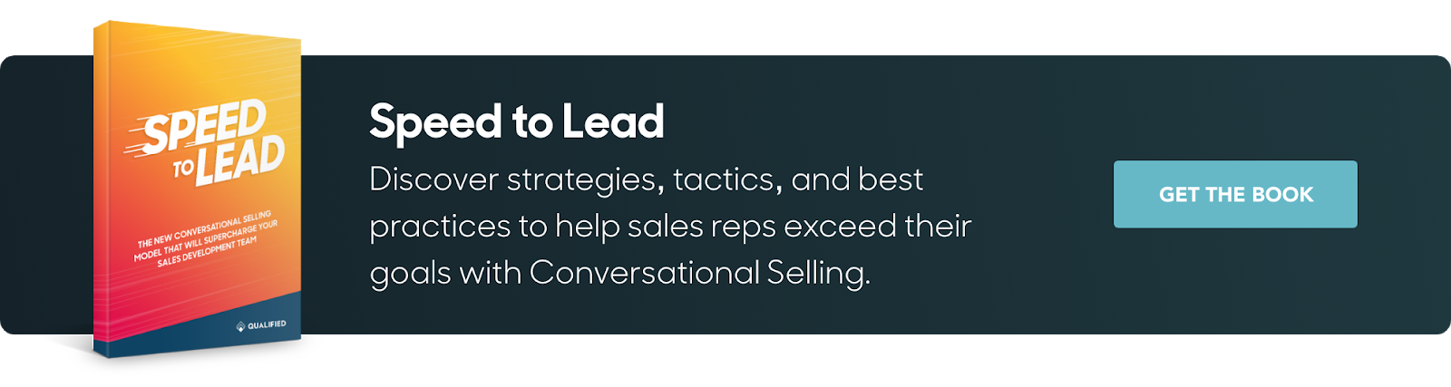 Qualified's Speed to Lead book highlights strategies to help sales reps exceed their goals with Conversational Selling