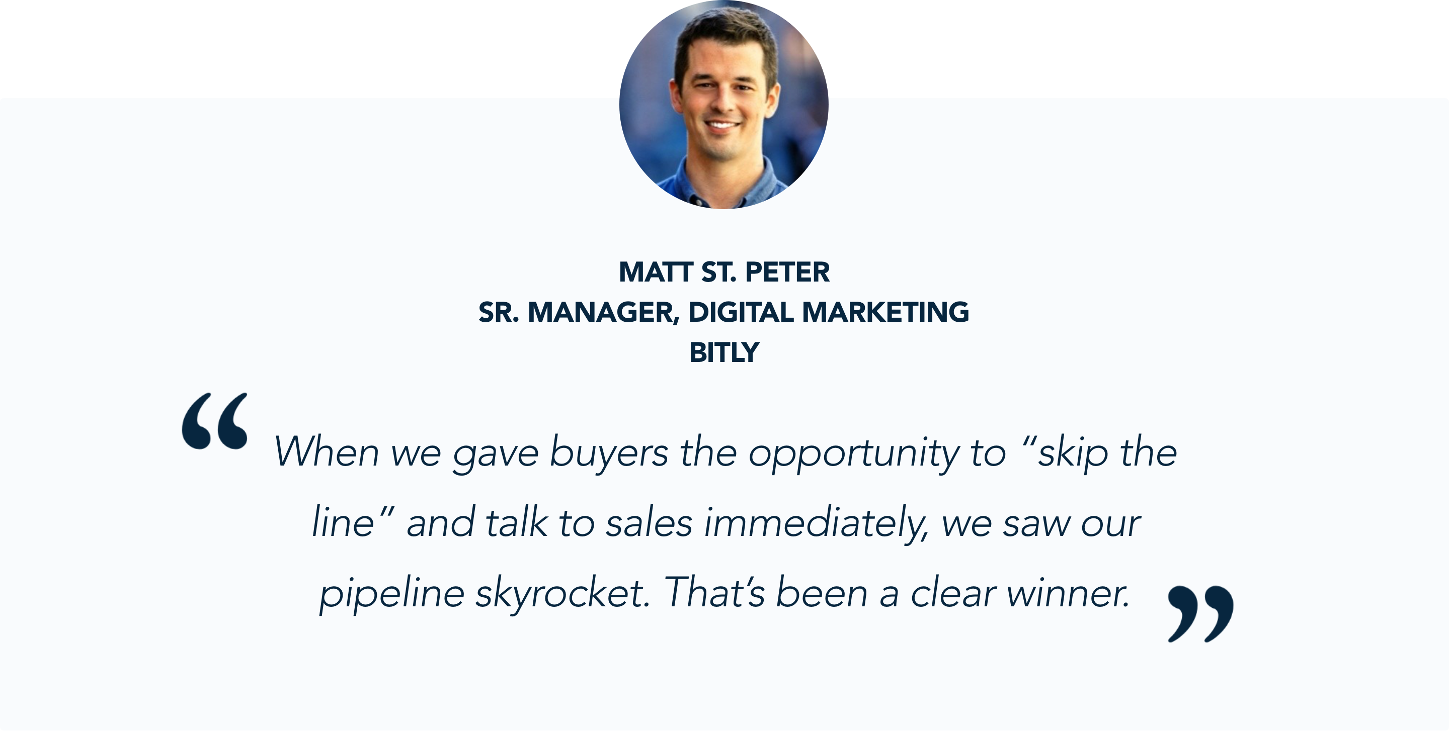 Matt St. Peter, Sr. Manager Digital Marketing at Bitly, shares his experience with Qualified's conversational marketing platform