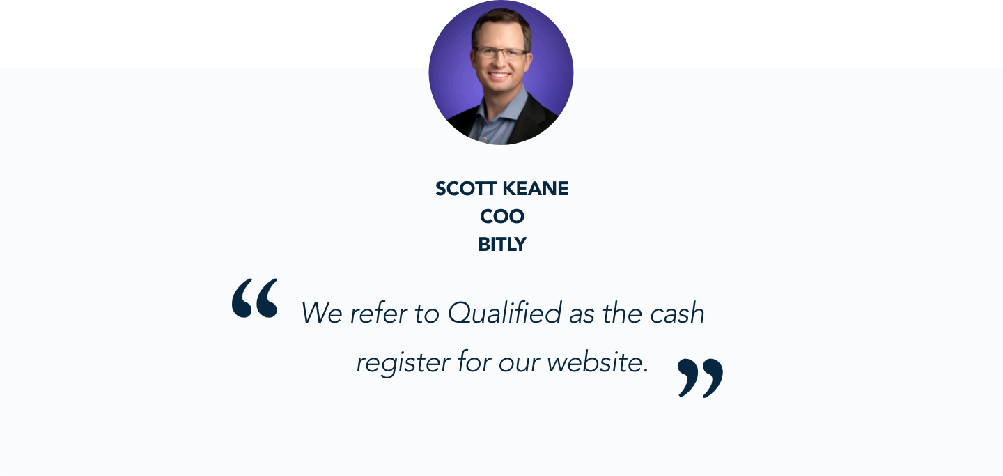 Scott Keane, CEO at Bitly, shares his experience with Qualified's conversational marketing platform