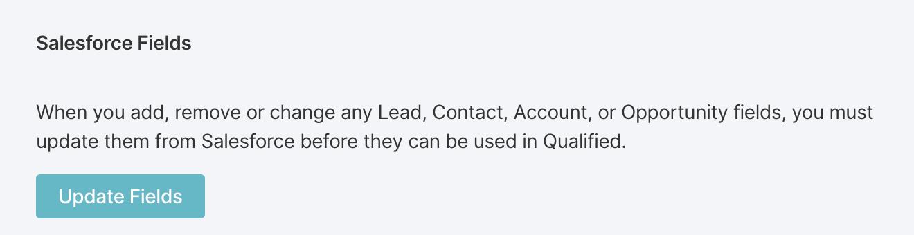 Updating Salesforce Fields in Qualified