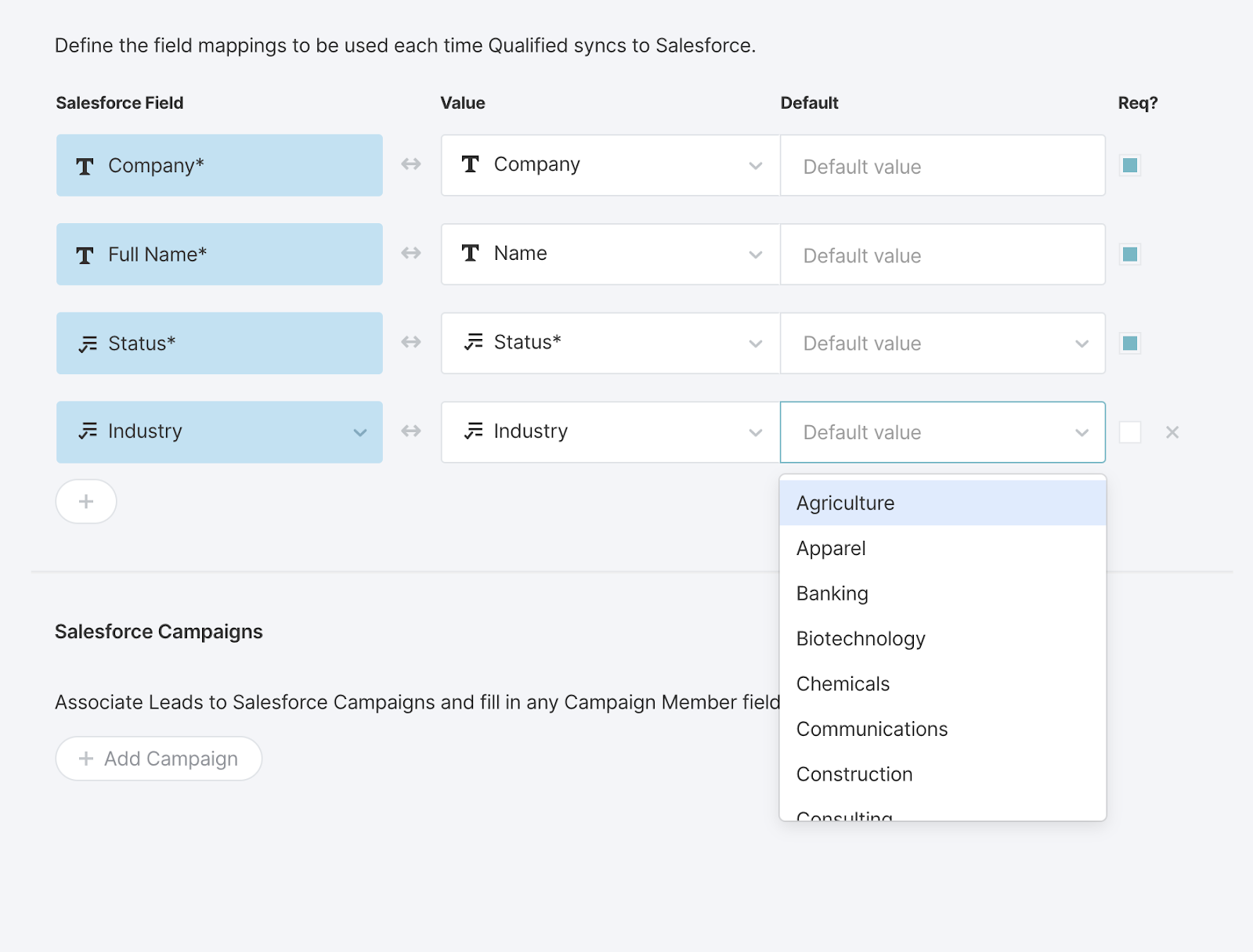 AppExchange Chat, Mapping Values into Salesforce