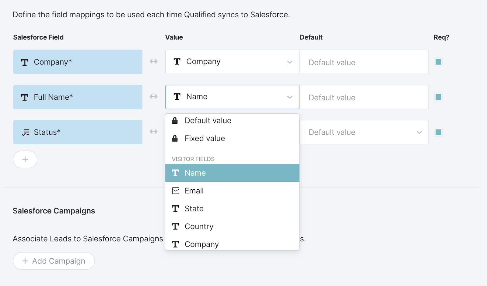 AppExchange Chat, Mapping Basic Fields