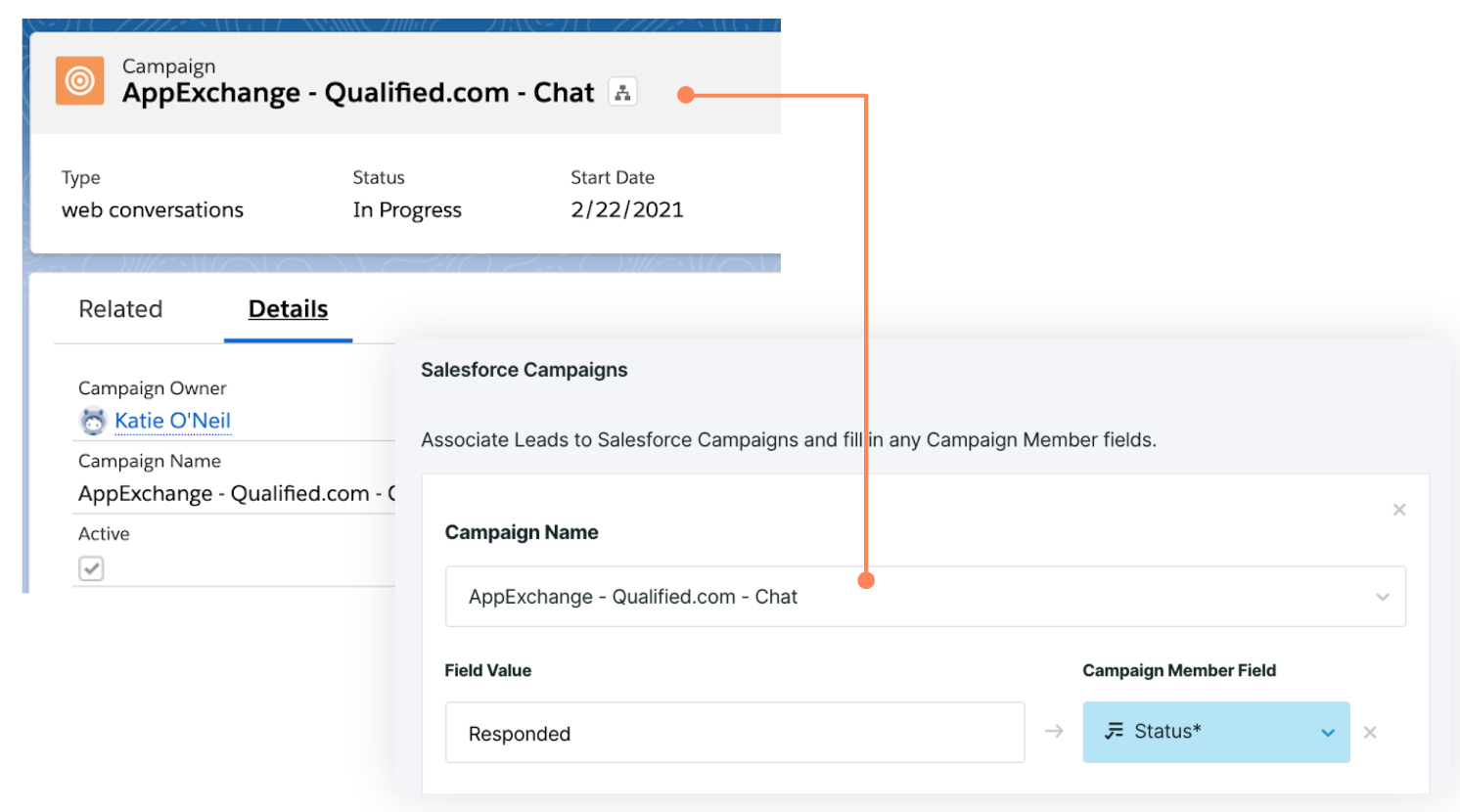 AppExchange Chat, Mapping to a Salesforce Campaign