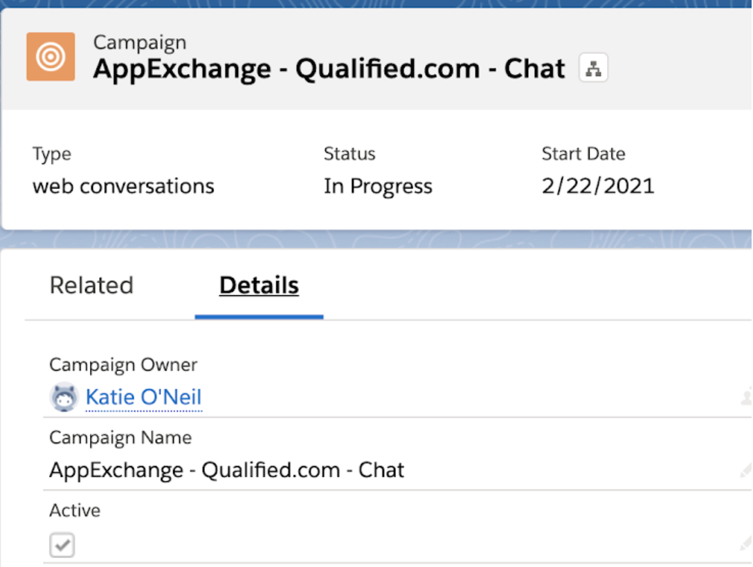 AppExchange Chat, Creating a Campaign in Salesforce