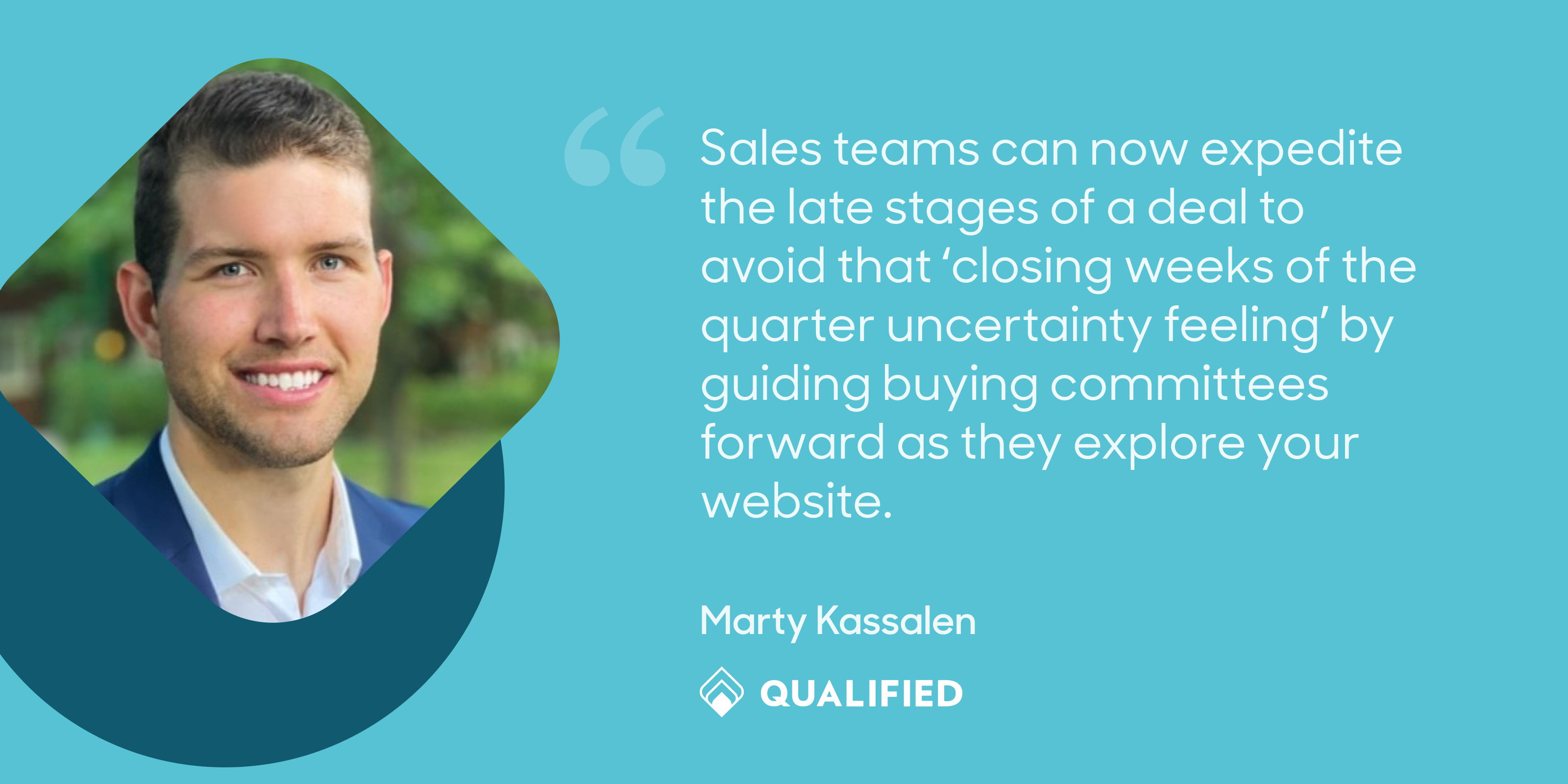 Marty Kassalen, Qualified Sales Rep, shares how conversational sales and marketing help sellers close deals