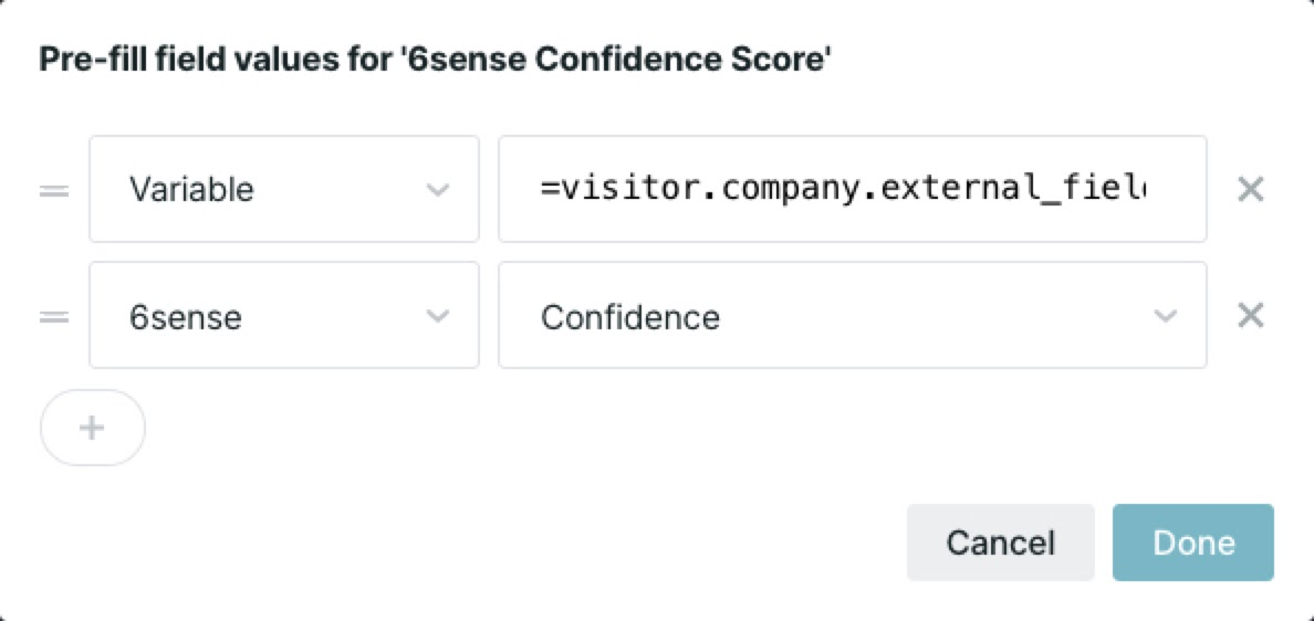 Prioritizing salesforce data over data directly from 6sense