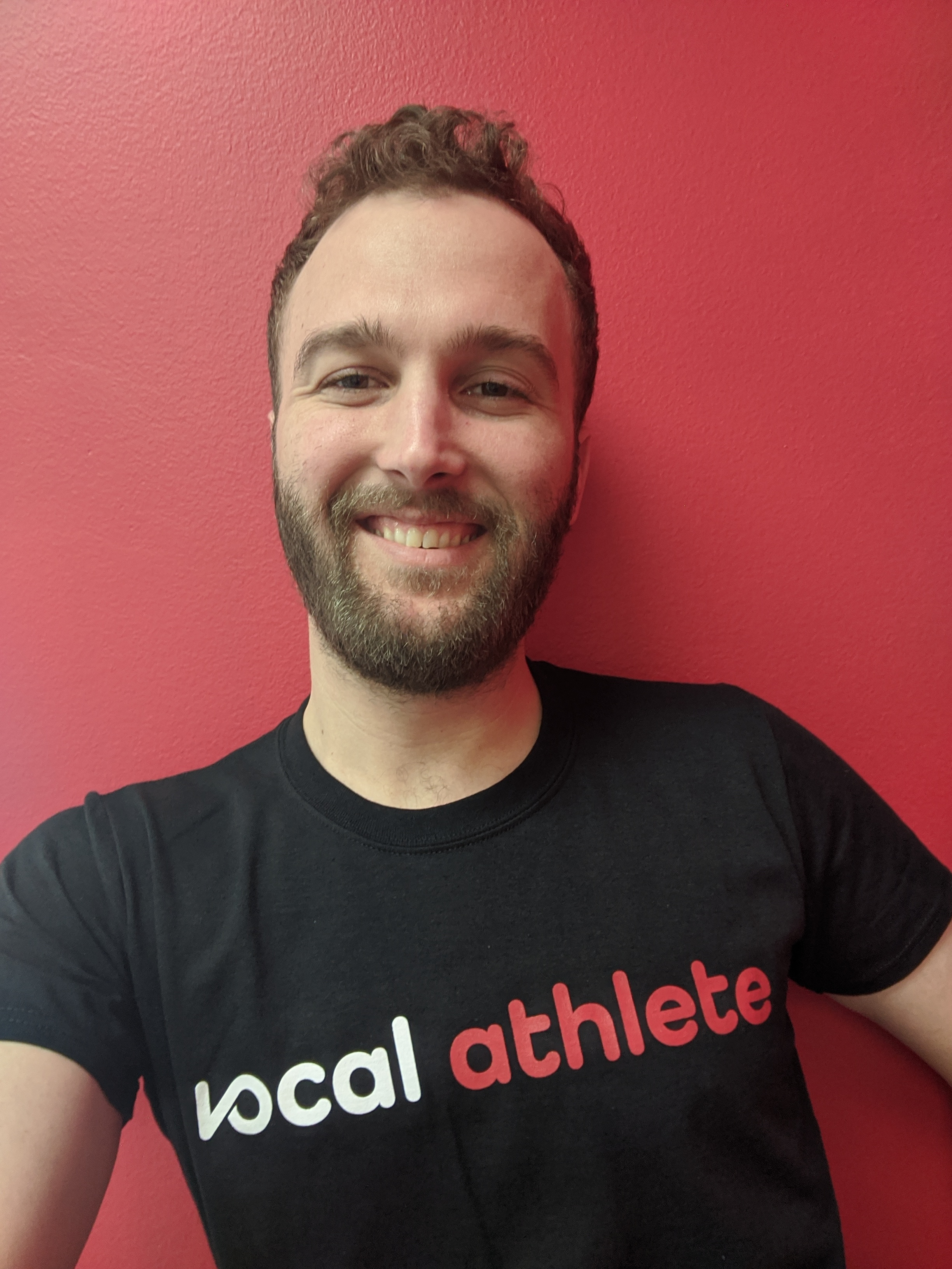 "Danny Scott sports the new Voice One ""Vocal Athlete"" shirt"