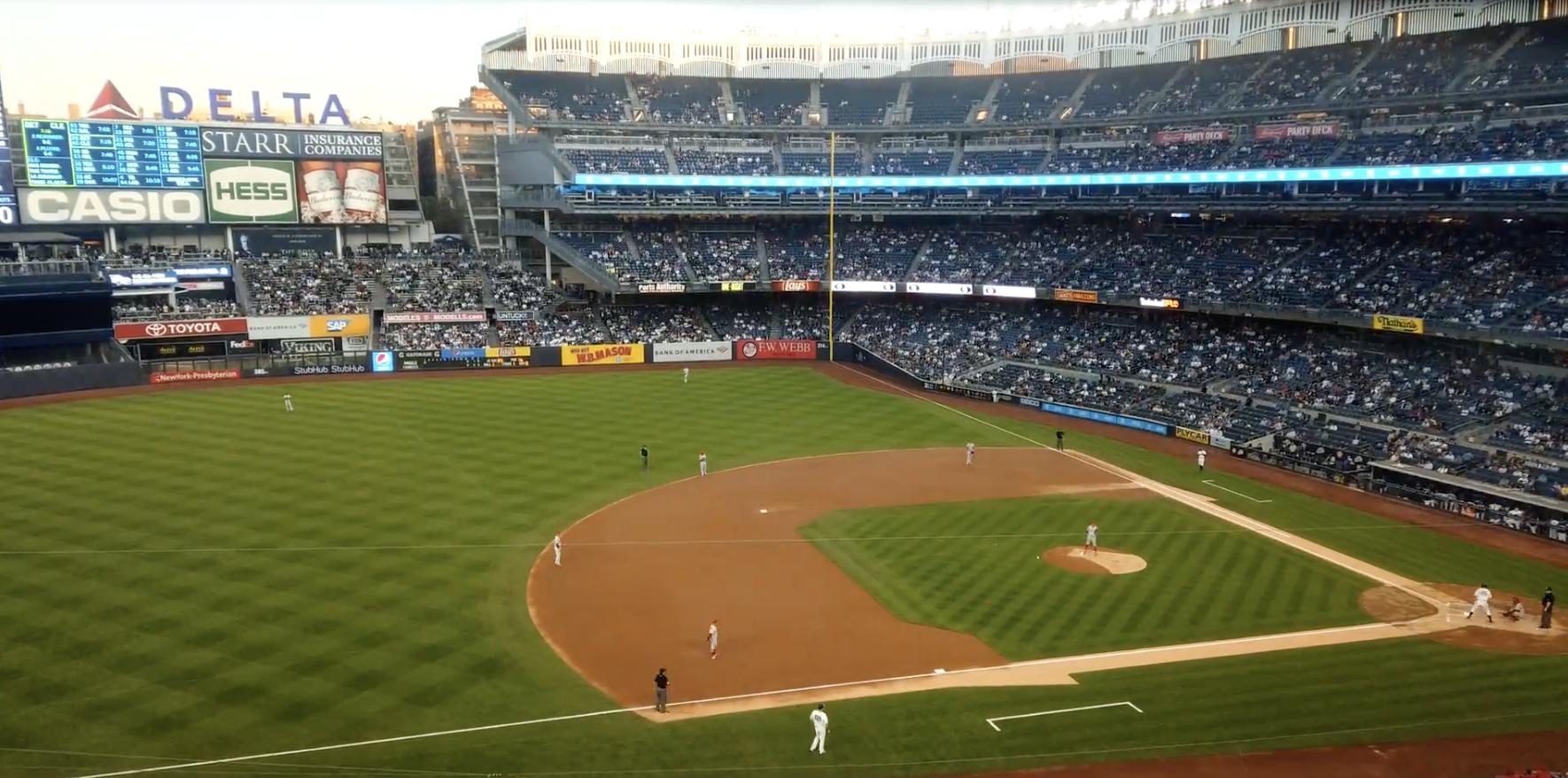 Yankee Stadium baseball field.