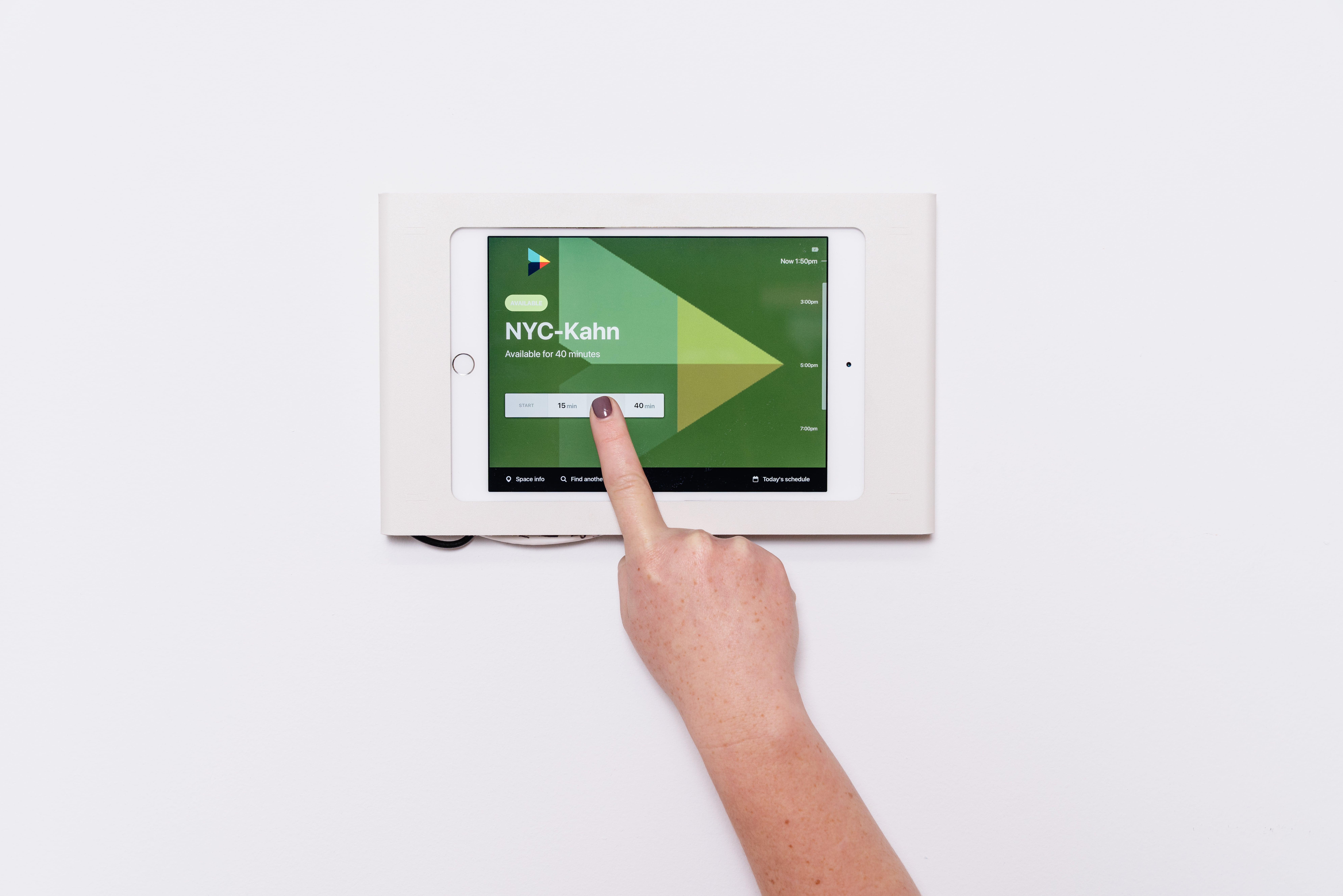 Office Ipad used for scheduling conference calls
