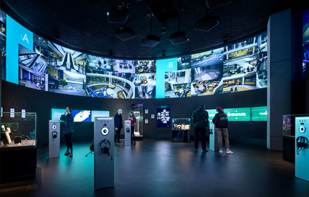Photo of SPYSCAPE surveillance exhibit