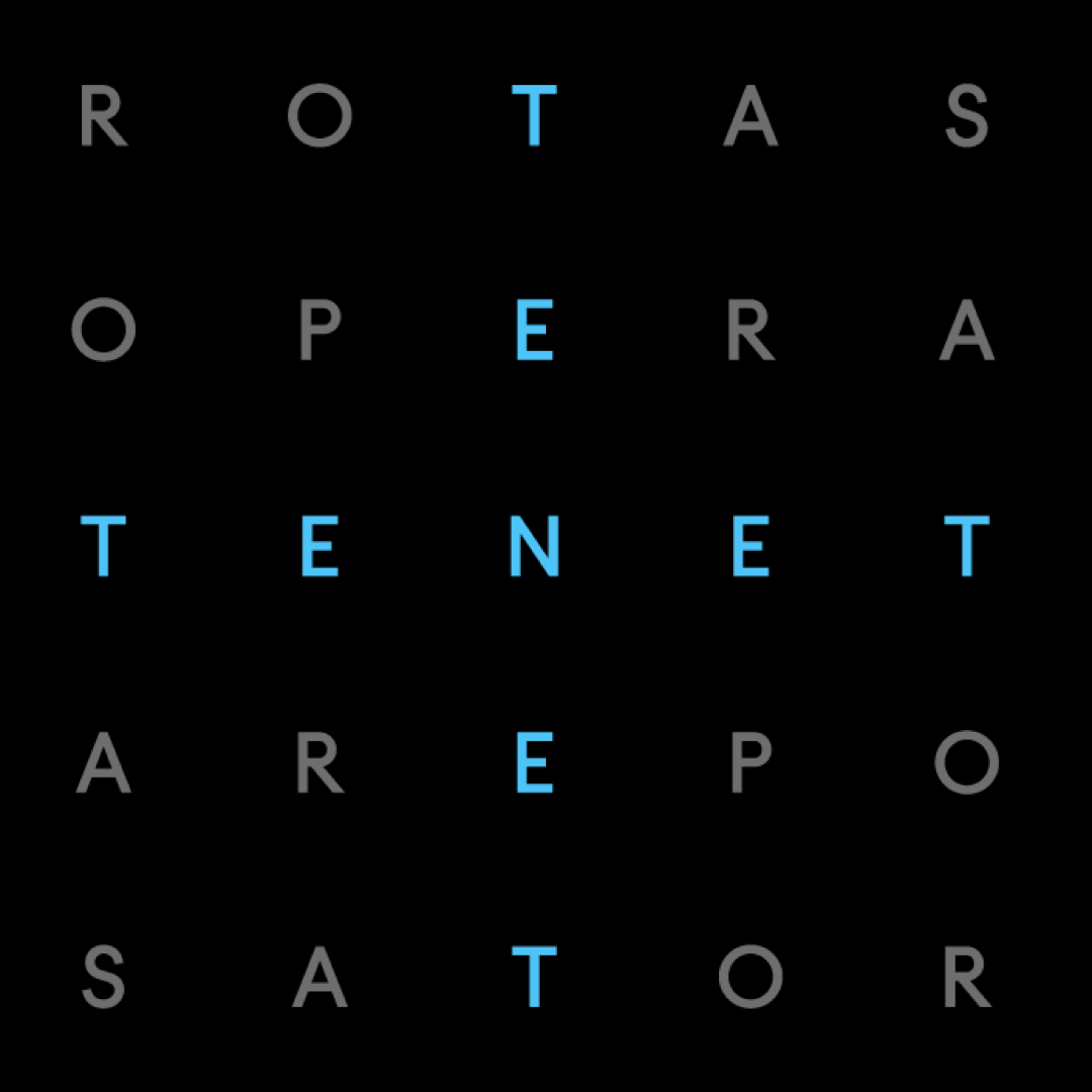 Look for the patterns in the letters