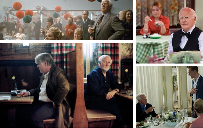 John le Carre's cameo roles in his films The Little Drummer Girl, The Night Manager, A Most Wanted Man and Tinker Tailor Soldier Spy