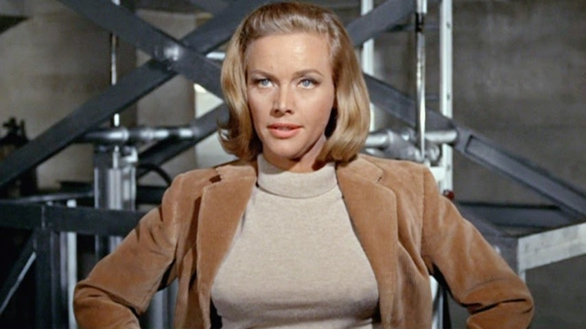 Honor Blackman (1925-2020), Pussy Galore, leader of Pussy Galore's Flying Circus female aviators, Goldfinger, Bond film
