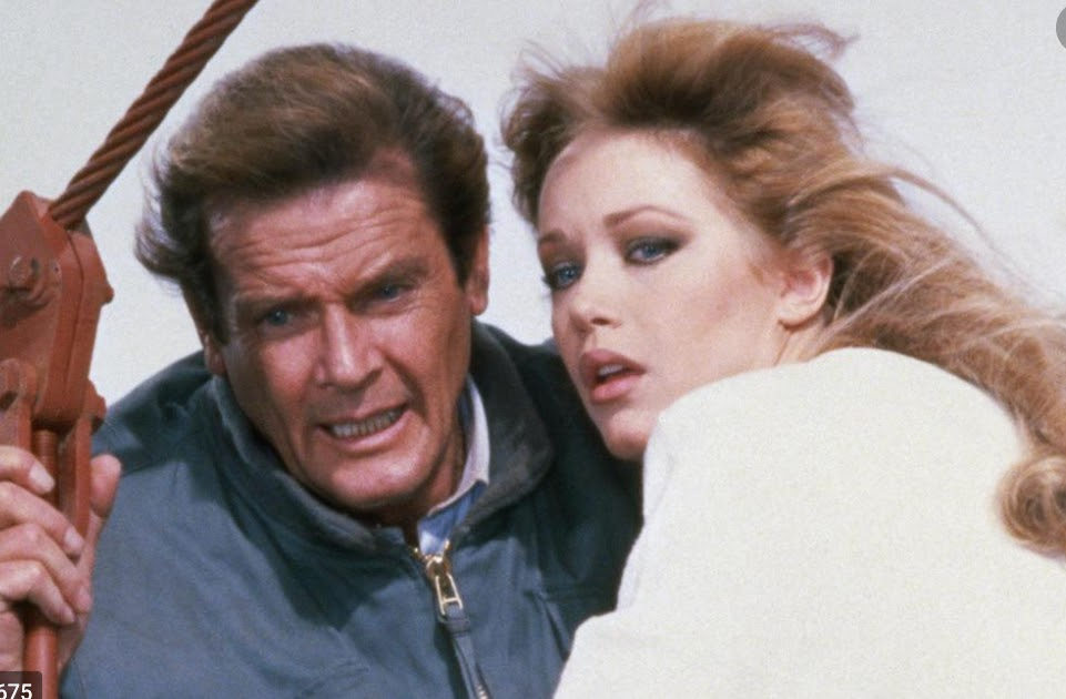 Tanya Roberts and Roger Moore in A View to a Kill