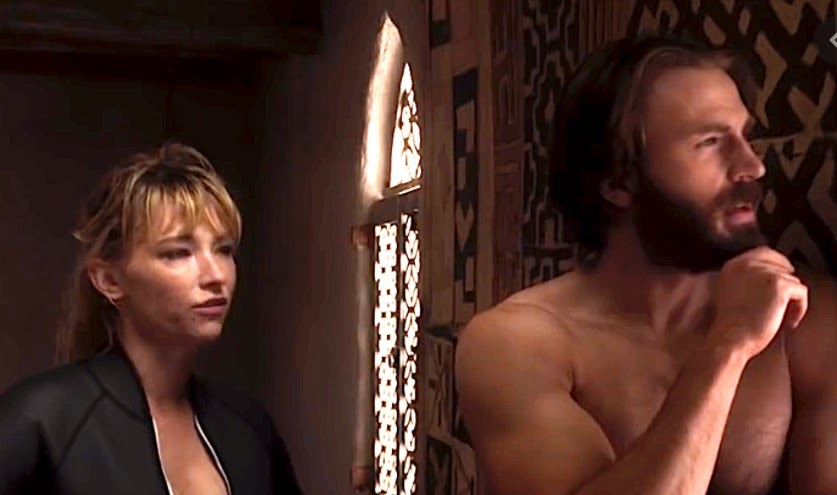 Haley Bennett and Chris Evans in The Red Sea Diving Resort