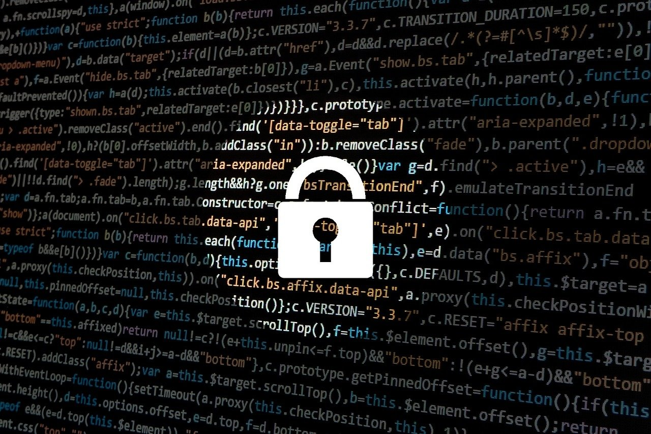 hacking computer code and lock