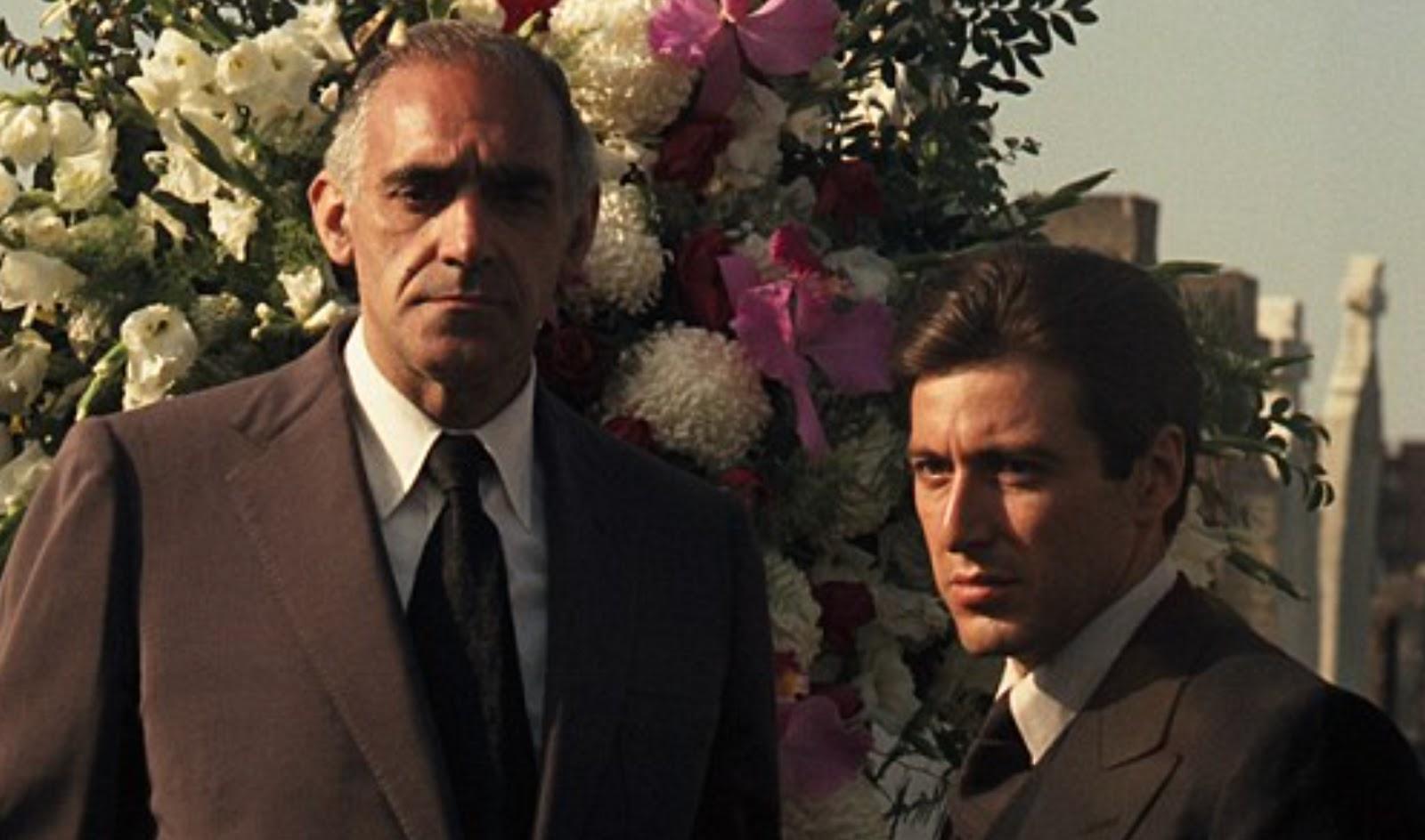 Abe Vigoda and Al Pacino star in The Godfather