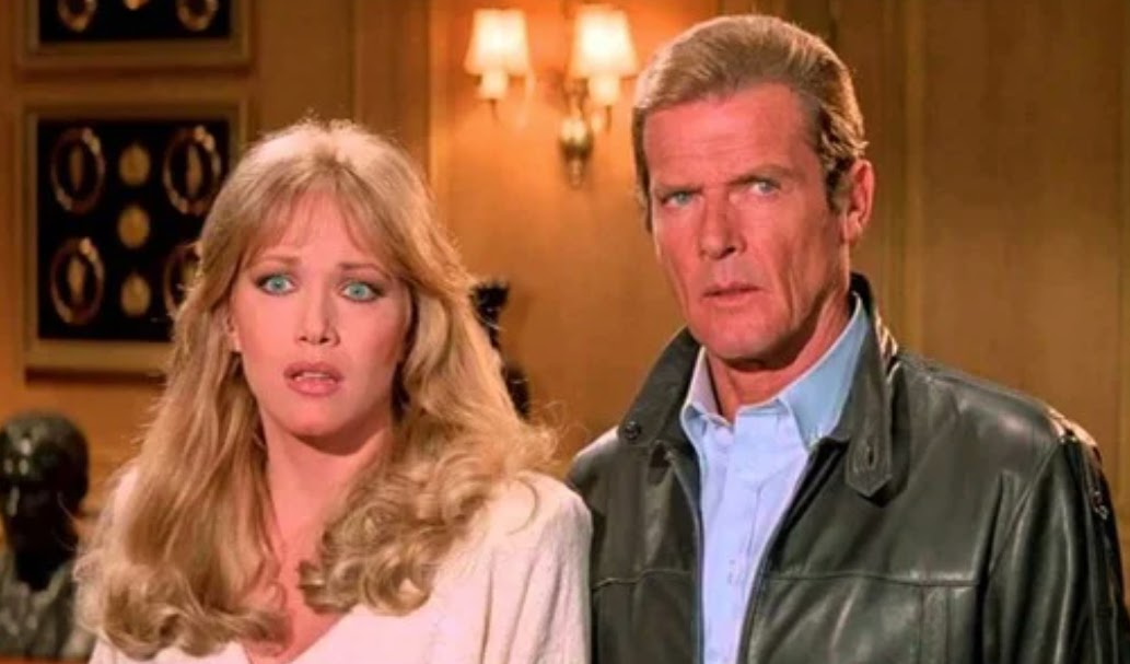 Roger Moore and Tanya Roberts in A View to a Kill