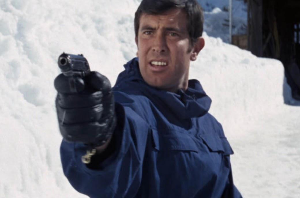 George Lazenby as James Bond in On His Majesty's Secret Service